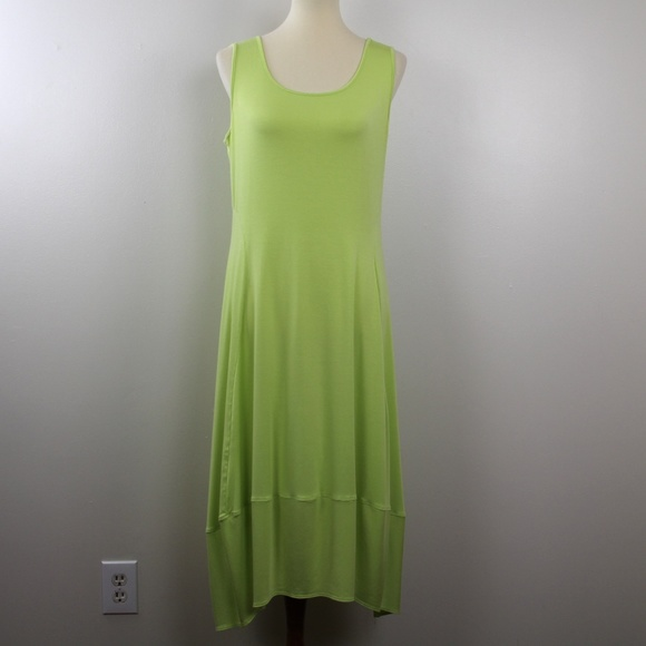 Comfy USA Lisa Dress Lime Green XL